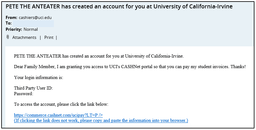 CASHNet Email Notification 2
